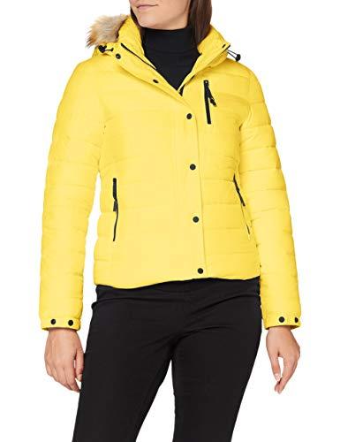 Superdry Womens Classic Faux FUR Fuji Jacket, Nautical Yellow, XL (Herstellergröße:16)
