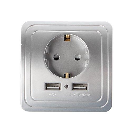 Buwei 5V 2A Adaptador de Cargador de Pared USB Dual Enchufe de...