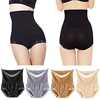 Pilot-Trade 4-Pack High Waist Underwear 20s Dress's Body Shaper Control Thermal Panties S-XL