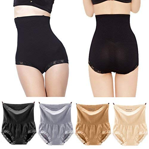 Price comparison product image Pilot-Trade 4-Pack High Waist Underwear 20S Dress's,  Multicoloured,  Size Us6-7