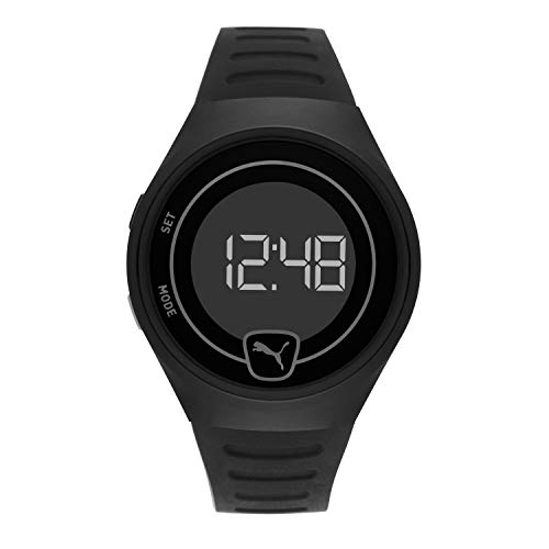 PUMA Men's Quartz Watch with Plastic Strap, Black, 18 (Model: P5031)