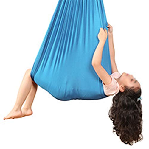 LBBL Hamaca aérea de yoga, hamaca de yoga para interior, silla de terapia, silla de casa, columpio ideal para trastornos de procesamiento de autismo, hamaca infantil (color: B, tamaño: 2,8 x 1,5 m)