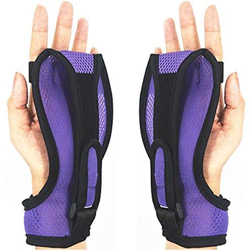 ZYQDRZ Fingerträger-Trainings-Armband, Feste Handschuhe Zur Rehabilitation Von Schlaganfall Und Hemiplegie, rutschfest Und Atmungsaktiv,Lila,2PCS