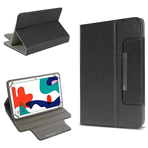 UC-Express Schutz Hülle kompatibel für Huawei MatePad T10 / T10s Tasche Tablet Schutzhülle Tab Hülle Magnet Cover, Farben:Schwarz