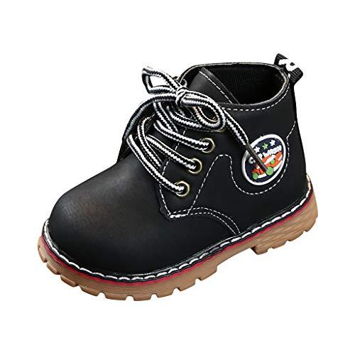 Brillanto Botas de Piel para Unisex-niños Botines Niñas Nueva Temporada Botas de Cordones Zapatos Tallas 21-25