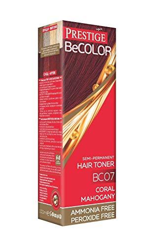 Vips Prestige - BeColor Tinte Semi Permanente Color Caoba Coral BC07, Sin Amoniaco Sin Peroxide