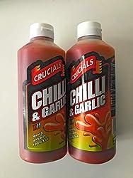 Crucials Crucials Chilli & Garlic Squeezy Sauce Chilli & Garlic Sauce Sauce 2 x 500ml pack