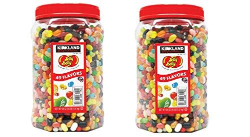 Kirkland Signature Jelly Belly 49 Flavors Of The Original Gourmet Jelly Bean - 4 Lb (64 Oz) Jar - Cos15 (2-Pack)