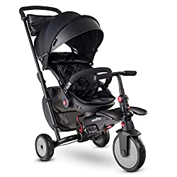 The smarTrike 7 Urban folding trike is a deluxe 8 in 1 trike (6-36m); The high-back seat reclines for nap times; It converts from a baby trike into a training tricycle for 1 year old toddlers and a tricycle for 2 year old kids Forget about spending t...