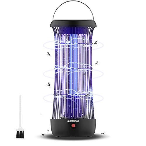 Qomolo Insektenvernichter Elektrischer Moskito Mörder Mückenlampe Insekten Mörder UV Mückenvernichter Insektenlampe Reizen Reichweite 60㎡ Mückenabweisende für Motten, Fliegen, Insekten und Mücken
