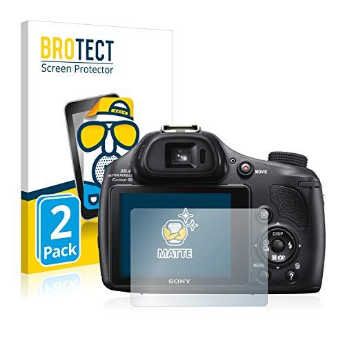 BROTECT Protector Pantalla Anti-Reflejos Compatible con Sony Cyber-Shot DSC-HX400V (2 Unidades) Película Mate Anti-Huellas