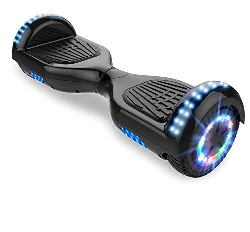 Patinete Eléctrico Hoverboard, Hover 6.5 Pulgadas Board Leds, Potente batería de Litio,...