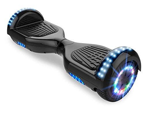 Hoverboards, Bluetooth 6.5 Pouces Self Balancing Scooter Gyropode avec Roues Flash LED E-Scooter z29 (Black)