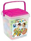 BLOKO 503584 - Barril de 100 Tablero de Juego, a Partir de 12 Meses, Fabricado en Europa, Juguete de construcción, Color Rosa