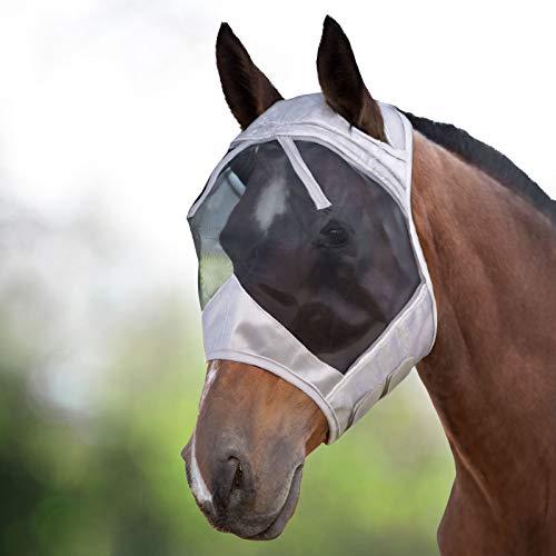 Harrison Howard CareMaster Máscara Anti-Moscas Protección Plata/Negro (L; Full Size)
