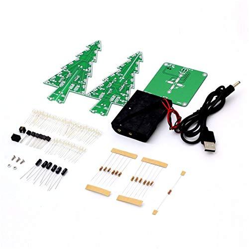 Dekor Elektronische LED-Flash-Schaltungsteile Weihnachtsbaum 3D-Baum LED-Bausatz Umweltfreundliche Materialien