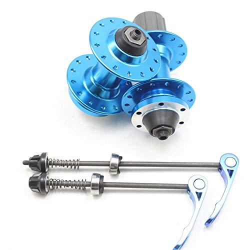Cierre Rapido Rueda Trasera Montaña Eje de la Bici 28/32 / 36 Hoyos del Freno de Disco del Cassette de aleación de Aluminio Accesorios de Bicicletas Buje De Bicicleta (Color : 28H Blue)