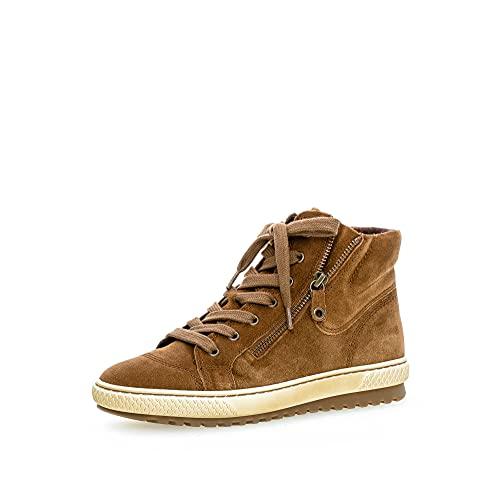 Gabor Damskie buty typu sneaker, wysokie, Br?zowy koniak, 40 EU