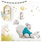 Little Deco Wandtattoo Babyzimmer Eisbär & Hasen mit