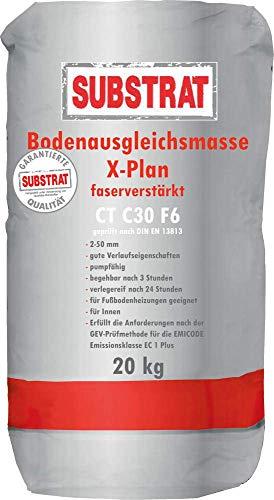 SUBSTRAT Holz Ausgleichsmasse X-Plan,faserverstärkt, Bodenausgleichsmasse, 2-50 mm, CT C30 F6, 20 Kg