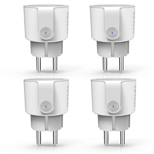 WLAN Alexa Steckdose, Smart Home Steckdose 10A Intelligente Plug Kompatibel mit Google Home Echo by Avatar Controls (4 pack)
