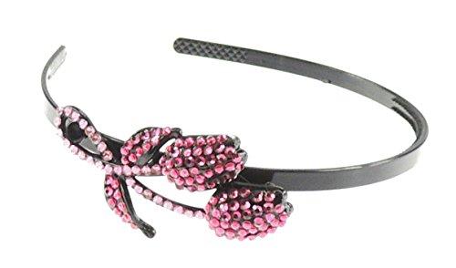 Mesdames noir paillette aliceband avec cristal rose