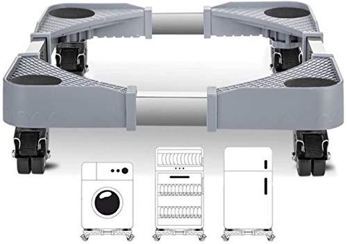 Rodamientos pivotantes para mueble Multi-funcional móvil ajustable Base universal Nevera con Rodamientos de carga hasta 500 kg Tamaño Nombre: 4 Nombre Caster Color: Como se muestra electrodomésticos y