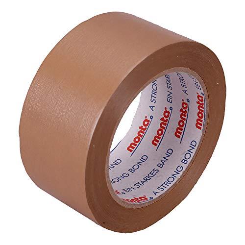 Wertpack 36x Klebeband Monta® 200 PVC Braun 55 My Stärke 50 mm x 66 m