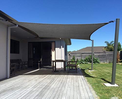 AXT SHADE Toldo Vela de Sombra Rectangular 3 x 4 m, protección...