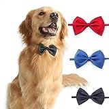 BYFRI Perro Gato Pajaritas para Mascotas Collar 3pcs Corbatas Y Estética Accesorios Regalo para Pequeño Mediano Grande Perros Y Gatos Adultos (Color Azar)