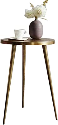 Selected Furniture/Coffee Table Metal Living Room Sofa Side Table Sffee Table Simple Non-Slip Coffee Table (Color : Brass, Size : 55 * 40 * 40CM)