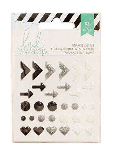 American Crafts Heidi Swapp 10268595 Sjabloon voor email vormen 3 zwarte glitter, acryl, meerkleurig