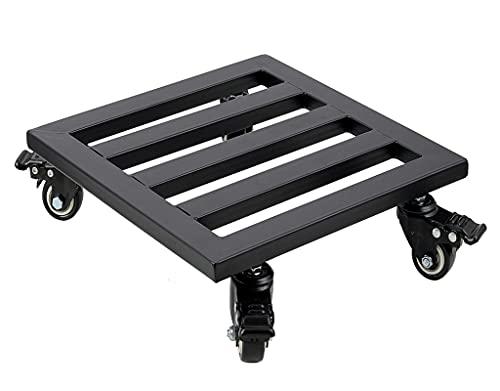 HOME COMPOSER Soporte para plantas con ruedas, 40 cm, cuadrado, resistente, para interior y...