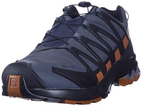 Salomon XA Pro 3D V8 GTX, Zapatillas De Trail Running Y Sanderismo Impermeables Versión Màs Ligera Hombre, Color: Negro (Ebony/Caramel Cafe/Black), 42 EU