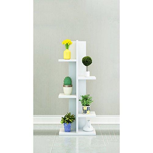 FZN Salle de séjour à Plusieurs étages avec Plancher en Bois Pots de Fleurs (Couleur : Blanc, Taille : 20 * 50 * 100)