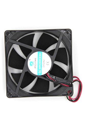 DC 24V 50mmx50mmx15mm 7 Vanes Cooling Cooler Fan w Metal Finger Guard