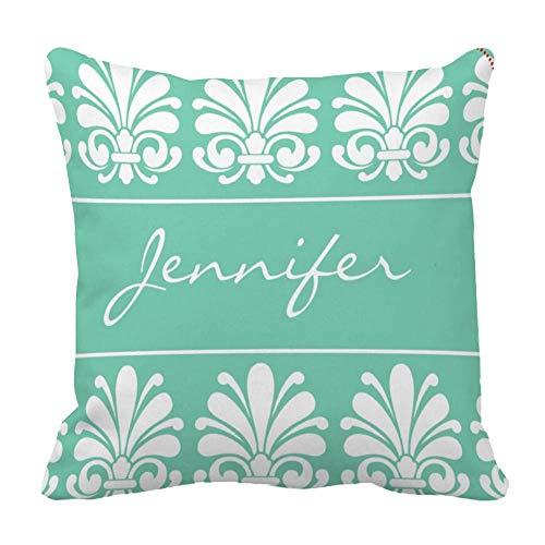 Perfecone Home Improvement - Funda de almohada para sofá y coche, diseño de concha femenina de damasco con flores personalizadas para sofá y coche, 1 paquete de 50 x 50 cm
