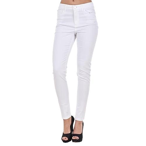 0826ed883cc Ladies Slim Fit Jeggings Coloured Stretch Plain Skinny Denim Plus Size Jeans