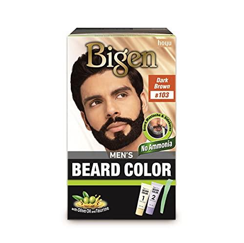 Hoyu Co. Bigens mäns skäggfärg B103, mörkbrun