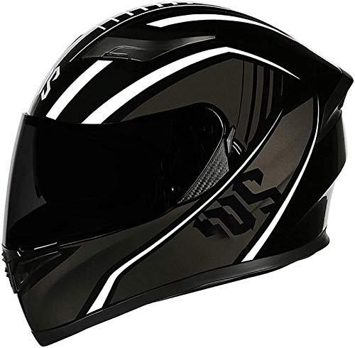 Casco De Moto Con Doble Visera, Certificación ECE Adultos Modular Integral Casco Moto Para Ciclomotor Motocicleta Y Scooter Mujer Hombre Verde Rojo Negro 3, XL=(61~62CM)