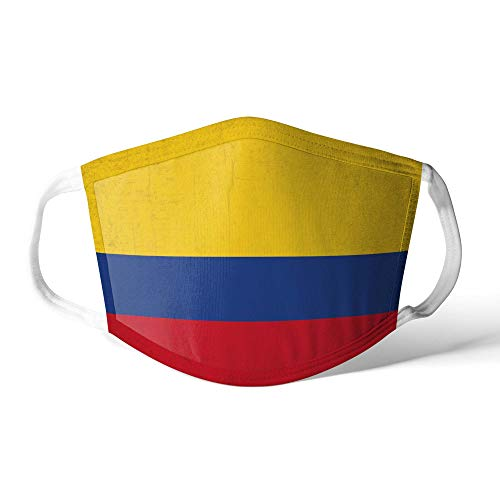 M&schutz Maske Stoffmaske Groß Notleidende Flagge Kolumbien/Kolumbianer Wiederverwendbar Waschbar Weiches Baumwollgefühl Polyester Fabrik