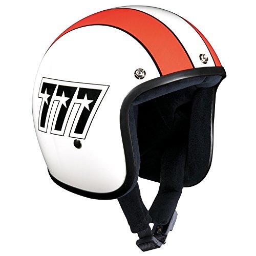 Bandit Helmets Jethelm 777 Jet, Motorradhelm ohne ECE mit Sonnenschild, Sports-Farbe:white red;Größe:M (57-58cm)