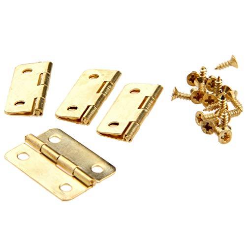 Bisagras de puerta de armario de cocina de 4 piezas para ataúdes, accesorios de muebles, bisagras de cajón para cajas de joyería, accesorios de muebles, 24x18mm