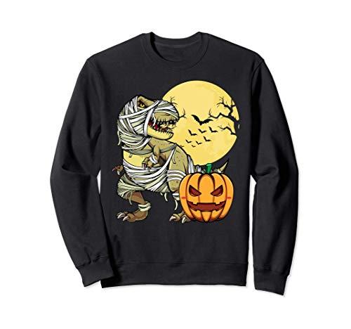 Dinosaurio T-rex Calabaza Mamá Chicos Disfraz Halloween Sudadera