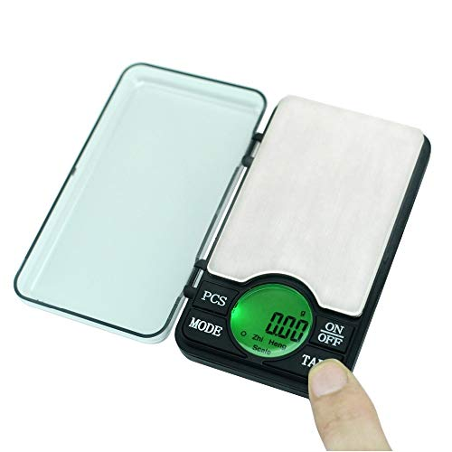 YING-pinghu Scale Multipurpose Precision 600g/0.01g Digital Pocket Scale Mini Jewelry Electronic Balanza 0.01 Gram Powder Coin Balance Weighing LCD Back-lit