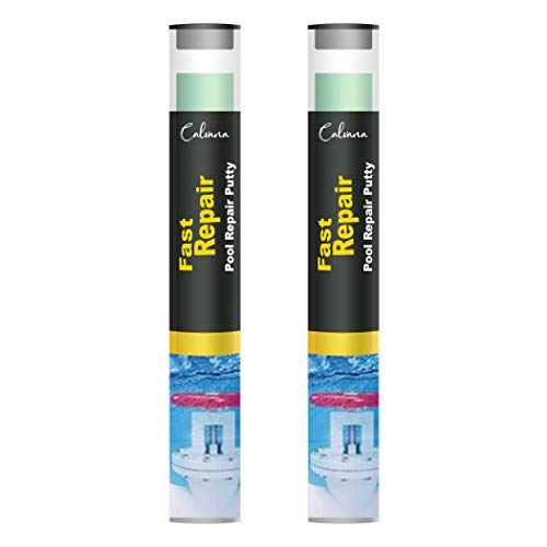 Calvana (2-Pack) 4-oz All Purpose Epoxy Putty Stick | Pool Patch, Pool Bounding Kit – A Quick and Permanent Repair Solution for Pool light, Pool Tile, Skimmer, and Plumbing leaks – Work Like Magic