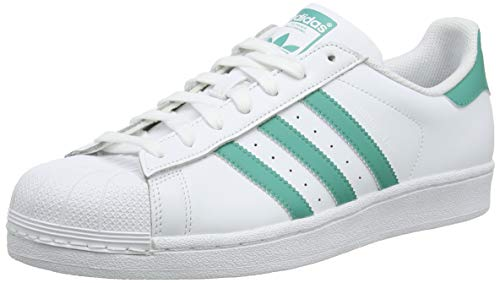 adidas Men's Superstar Gymnastics Shoes, White (Footwear White/True Green/Footwear White 0), 8 UK (42 EU)
