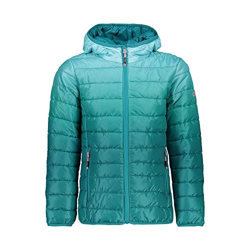 CMP Mädchen Padded Jacket with Hood Jacke, Lake, 176