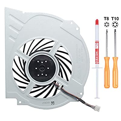 S-Union New Replacement Internal Cooling Fan for Sony Playstation 4 PS4 Pro CUH-7xxx CUH-7000 Cuh-7000Bb01 CUH-7215B 7000-7500 6X29Frs Series G95C12MS1CJ-56J14 KSB1012H Series (Come with Tools)