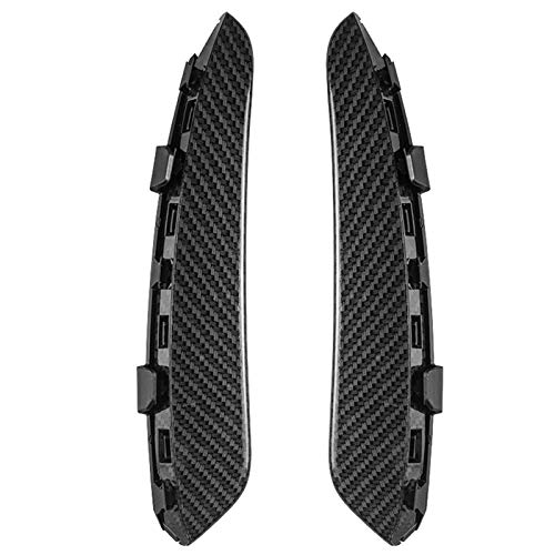 Labios Canards,Spoiler Canards Para Mercedes Benz una clase W177 A160 A180 A200 A250 2019 Fibra de carbono delantera de la fibra de carbono Spoiler FOG LIGHT AIR VENT FOUR PUBLIDO (Color : Black)